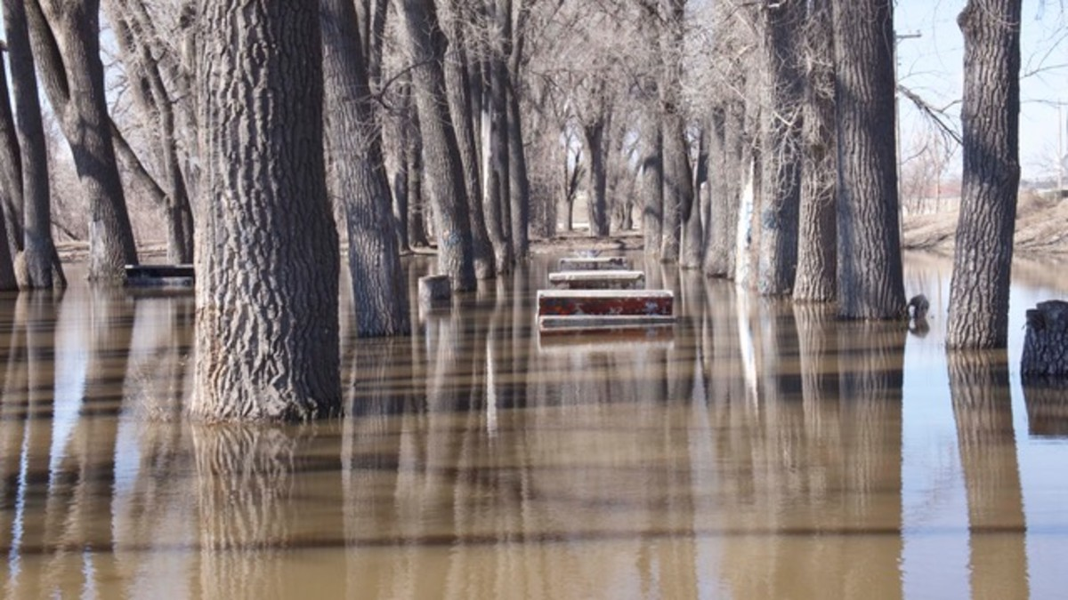 Pictured: Yo Park on the Pine Ridge Reservation, flooded.
