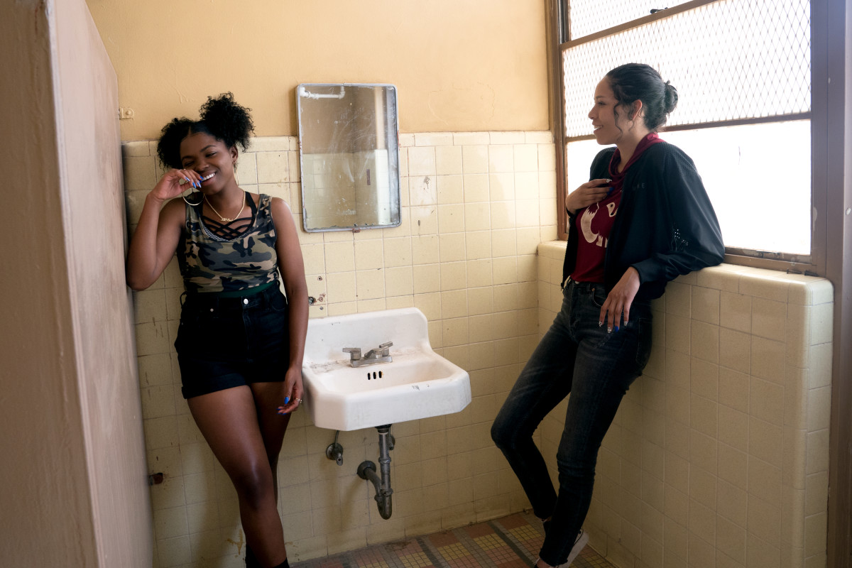 Sasha Yazzie and her friend Yvonne (on the left) played by Kyanna Simone Simpson.