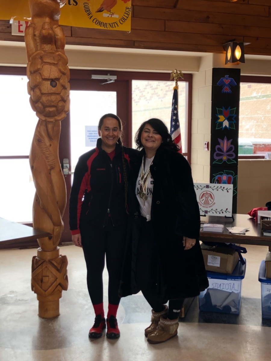 Pictured: Native Justice Coalition Director Cecelia LaPointe and Presenter Tashina Lee Emery enjoying the 2018 Anishinaabe Racial Justice Conference.