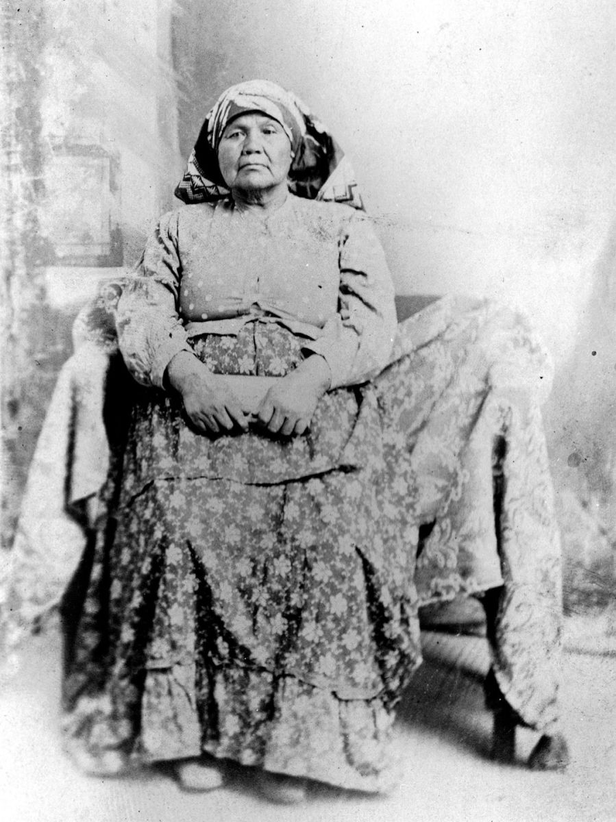 An undated photo shows Maria Levi Augustine, wife of Captain Vee-Vee Augustine, the namesake of the reservation.(Photo: Courtesy of Augustine Band of Cahuilla Indians)