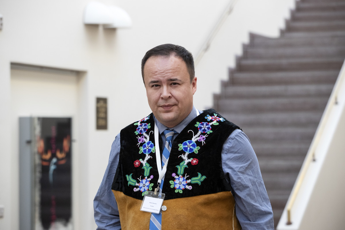 Gwich'in Council International Head of Delegation Edward Alexander. Photo credit: Ministry of the Environment Finland/Kaisa Sirén