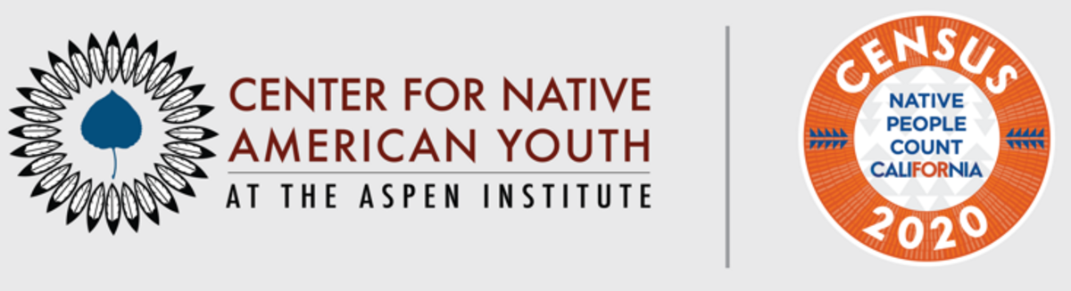 Center for Native American Youth ( CNAY ) + Native People Count California ( NPCCA ) partnership - logos