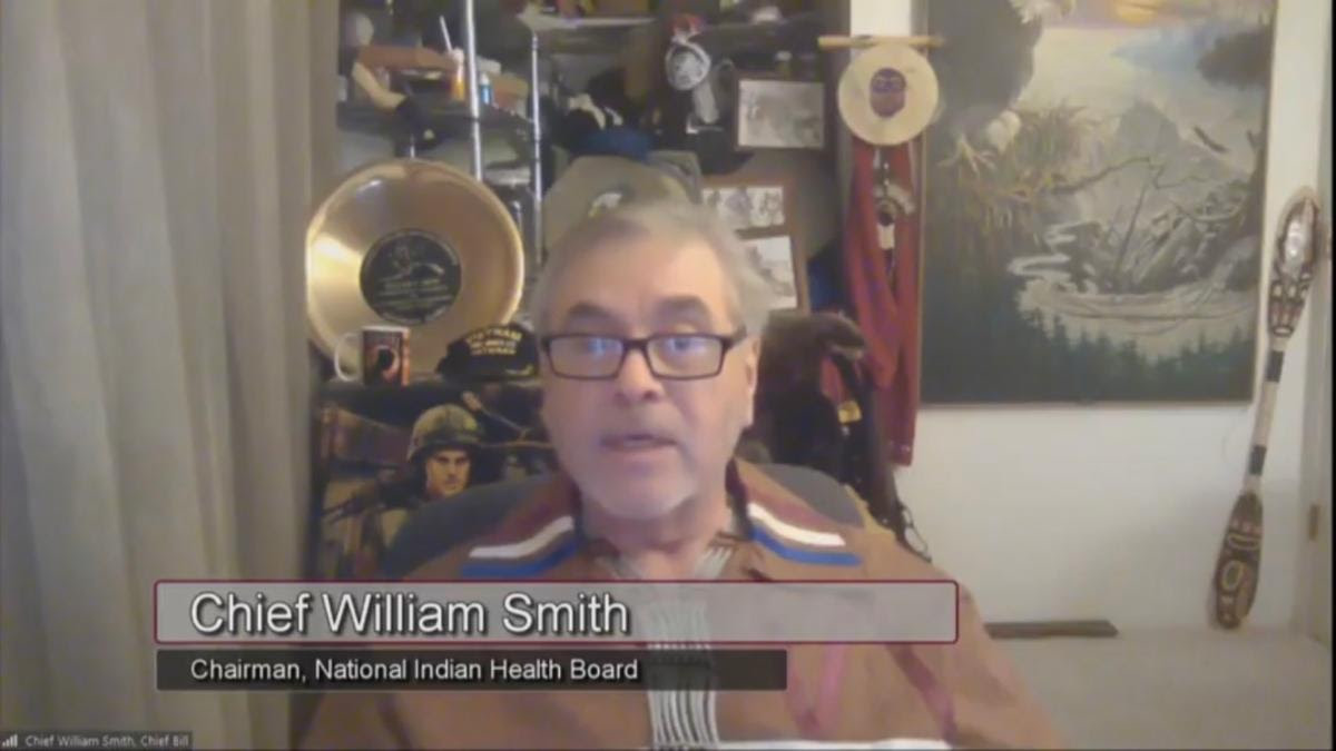 Pictured: Acting Chairman William Smith, Valdez Native Tribe of Alaska and National Indian Health Board Chairman.