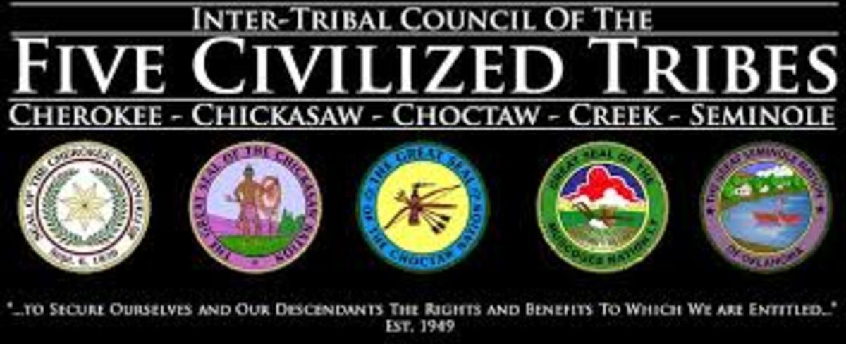 Inter-Tribal Council of the Five Civilized Tribes - banner logo