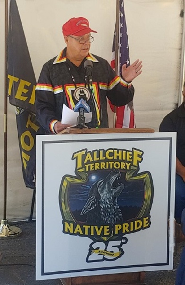 Pictured: Seneca Nation businessman J C Seneca chose July 17, Seneca Nation Unity Day, to launch a celebration of 25 years of successful operations at his Native Pride Travel Plaza.