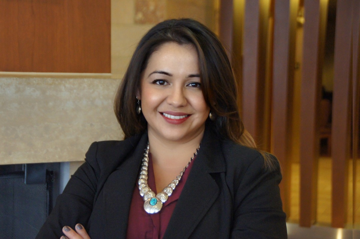 Clara Pratte, Diné, serves as the tribal engagement director of the Joe Biden campaign for president. (Photo courtesy of Clara Pratte)