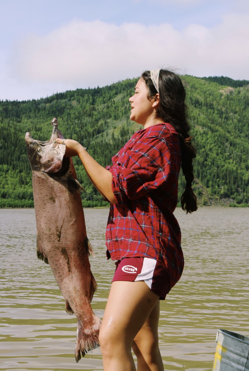 Fish camp on the Yukon River in Alaska. (Photo by Meghan Sullivan, Indian Country Today)