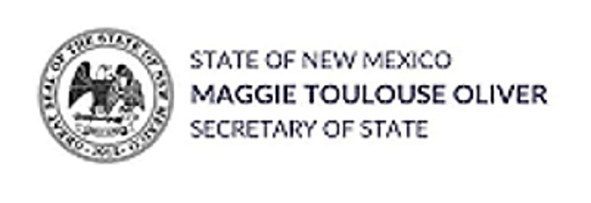 State of New Mexico Secretary of State Maggie Toulouse Oliver - seal, banner logo