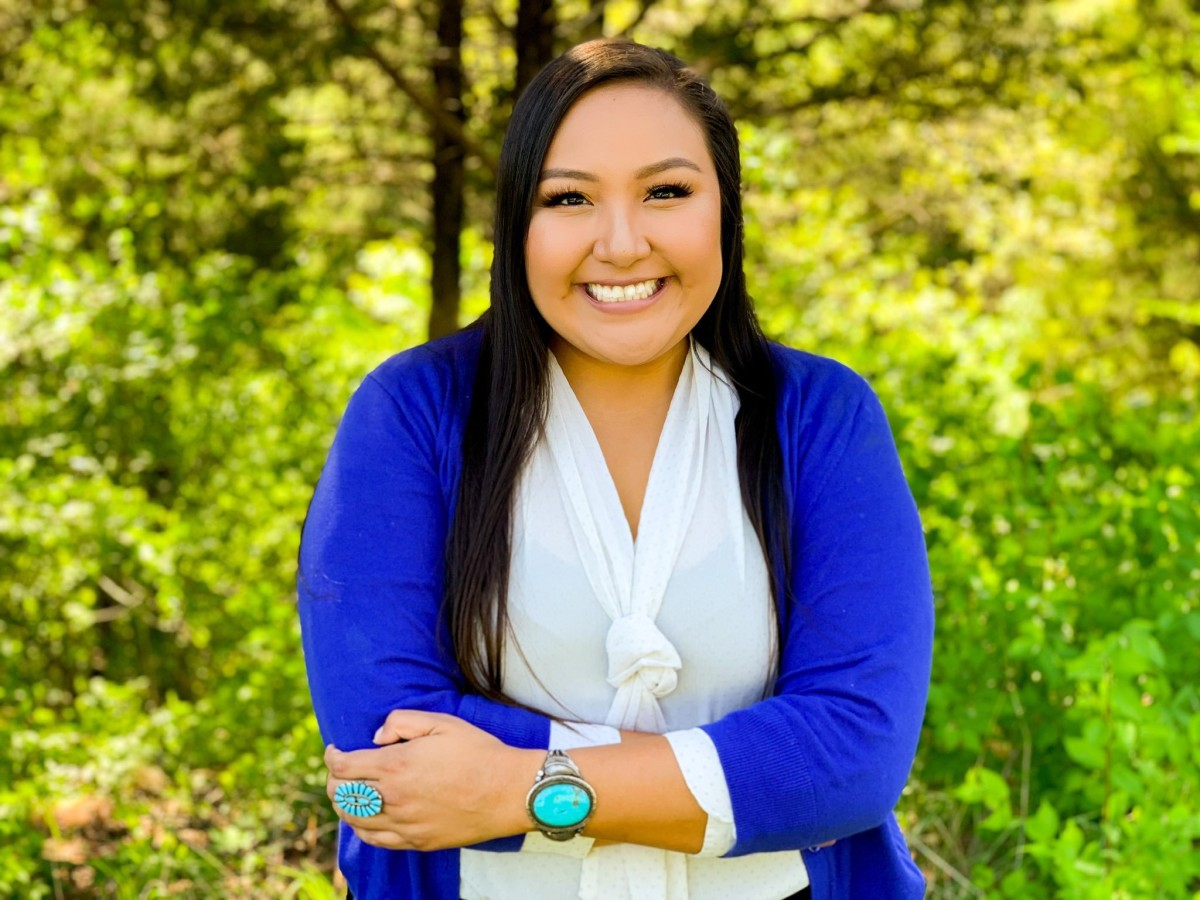 Christina Haswood, Navajo, beat out two other Democrats and faces no Republican candidate to represent District 10 in Kansas' House of Representatives. (Photo courtesy of Haswood campaign)