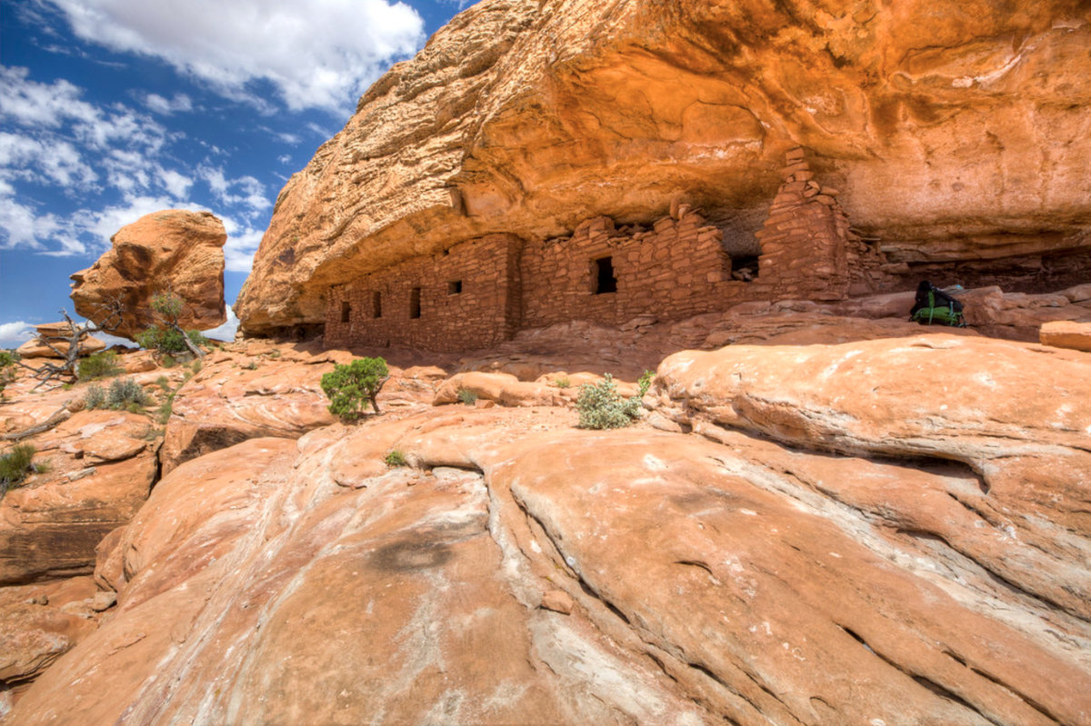 The Citadel Ruins are the remains of Anasazi cliff dwellings in the Bears Ears National Monument in Utah. The Citadel is one of an estimated 100,000 sites in the monument spanning some 12,500 years. (Photo credit: Bob Wick / Bureau of Land Management, Courtesy of Creative Commons)
