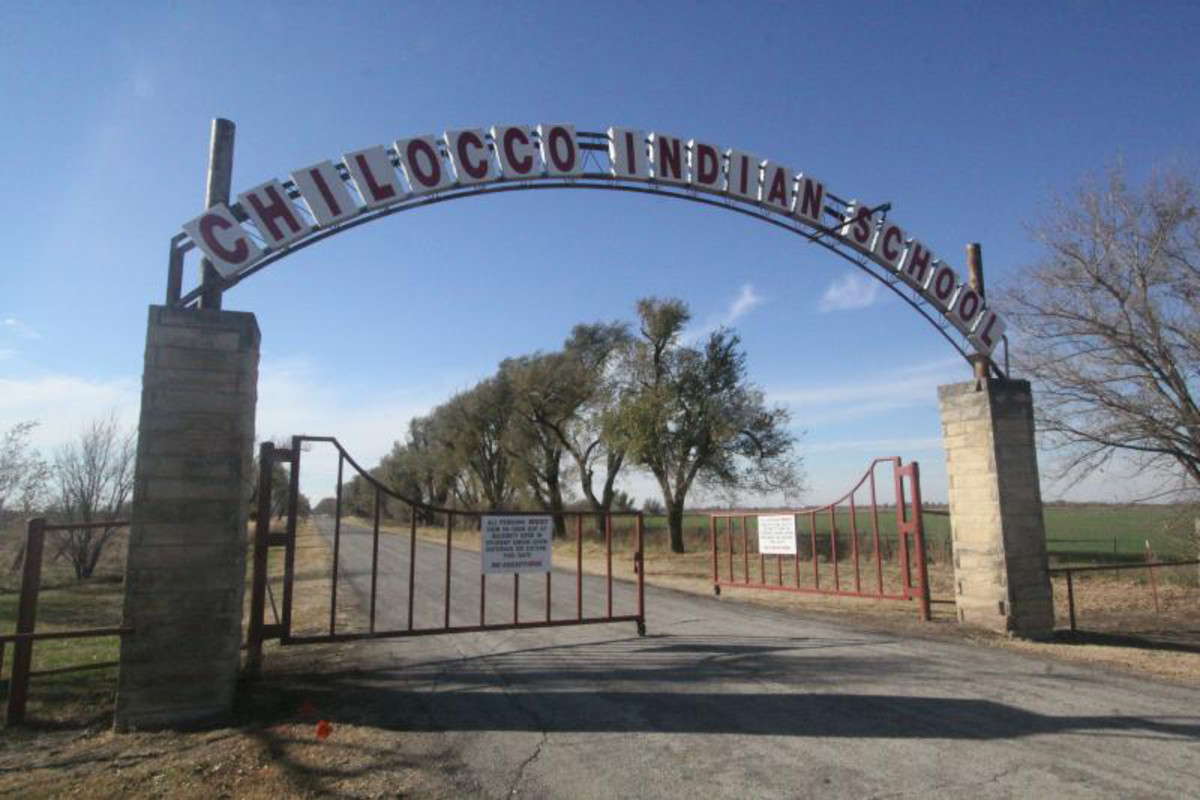 The Chilocco Indian Agricultural School in northern Oklahoma, one of hundreds across the country in the 19th and 20th centuries that that worked to forcibly assimilate Native American children into Western culture, separating famlies and often punishing use of tribal language and traditions. (Photo by pcol/Creative Commons)