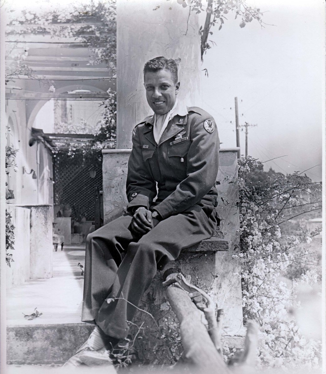 """Curtis Carr, a member of the Creek Nation who attended the Chilocco Indian Agricultural School as a youth, in a photo from his Army Air Corps days. Carr's daughter said while he credited the school with giving him skills that helped him succeed, he also described the """"very harsh environment"""" at the school. (Photo courtesy K. Tsianina Lomawaima)"""