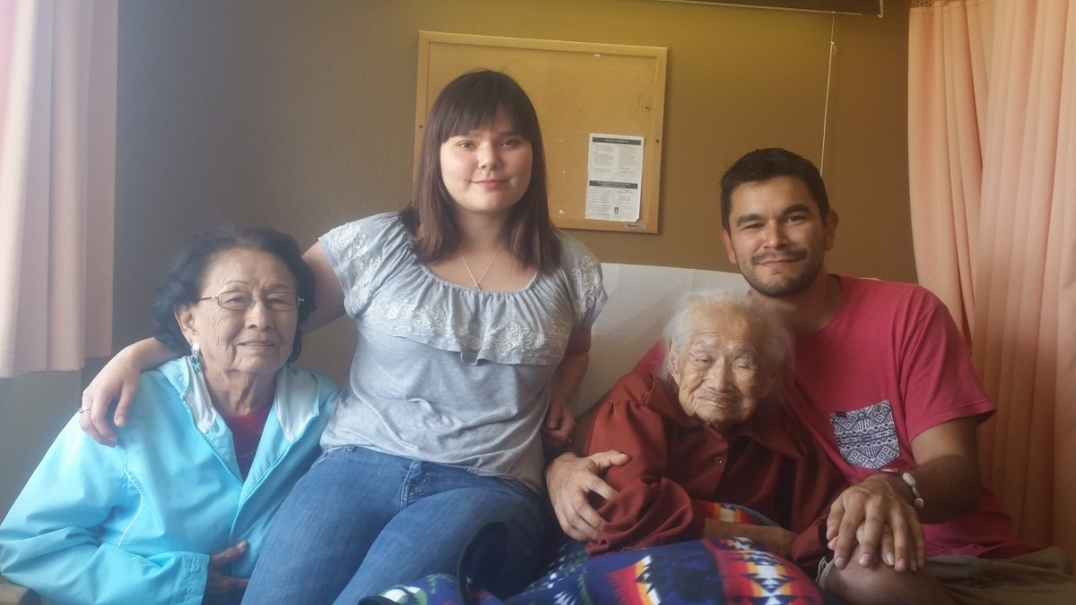 Helen Nez (far left) with her family. (Photo courtesy of Kayla Pinkard)