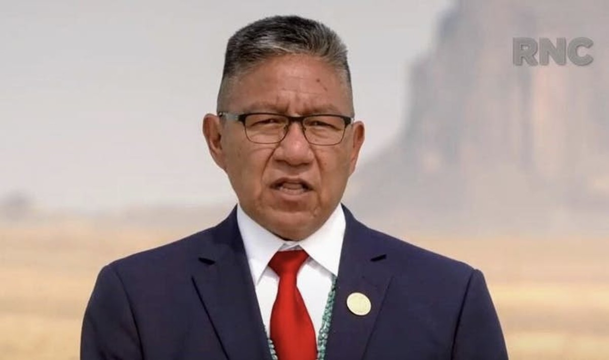 Pictured: Navajo Nation Vice President Myron Lizer speaks at the 2020 Republican National Convention.
