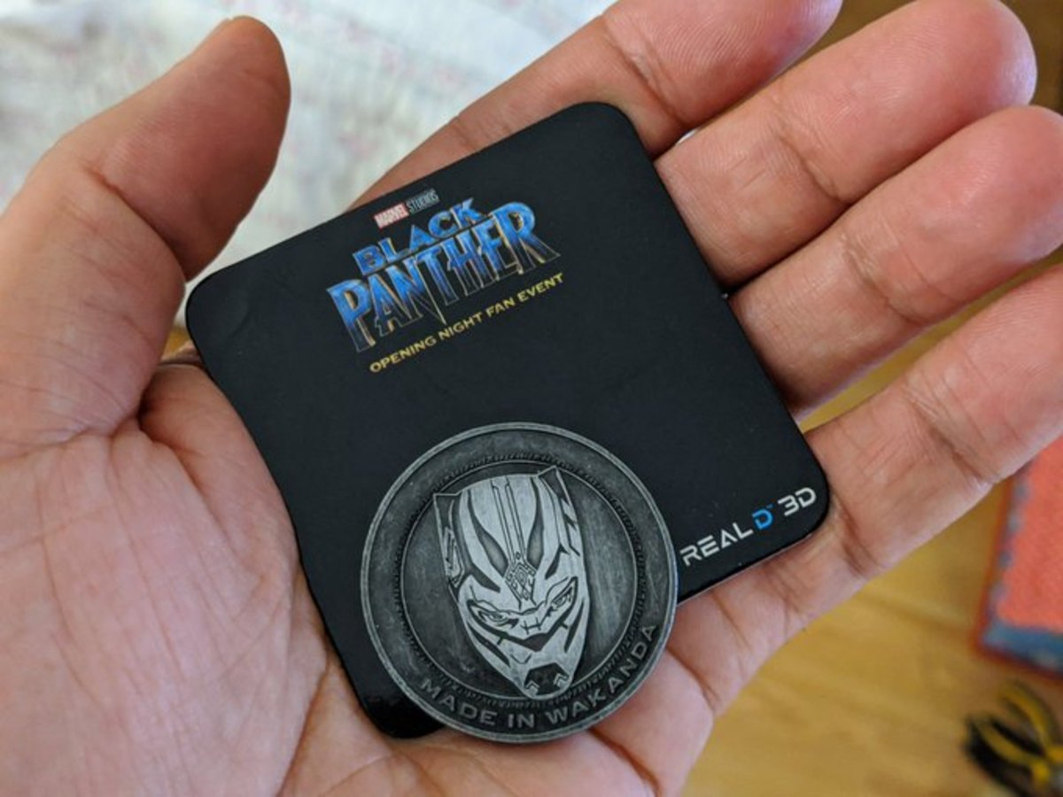 My Black Panther collectible coin. (Photo by Vincent Schilling, Indian Country Today)