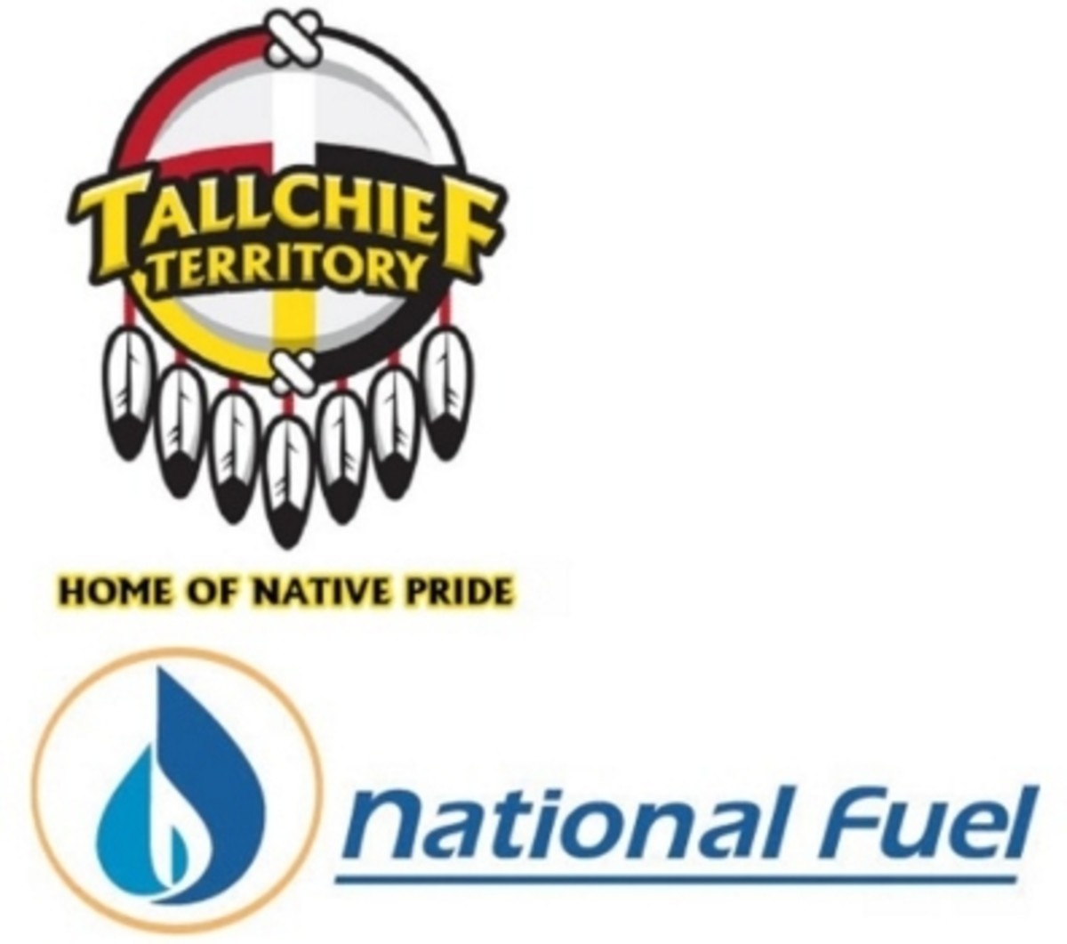Tallchief Territory, home of Native Pride AND National Fuel - logos