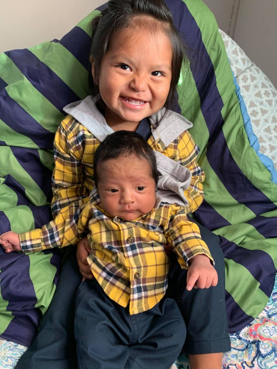 Pvt. Corlton L. Chee leaves behind two sons, a 2-year-old and a 3-week-old: Thielen and Kozak Chee. (Photo courtesy of Carma Johnson)