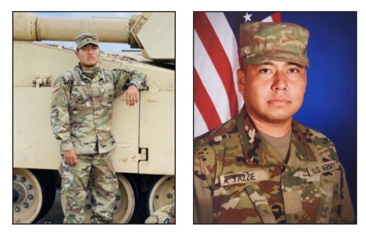 Pictured: United States Army Private Carlton L. Chee (left) and Army Specialist Miguel D. Yazzie (right), both members of the Navajo Nation, were serving at Fort Hood at the time of their passing.