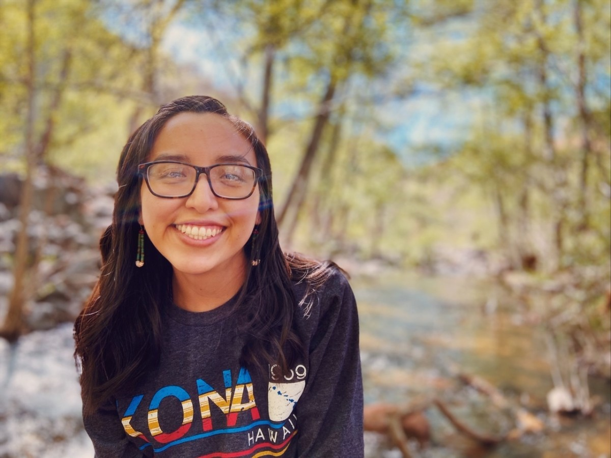 Walking, praying and journaling have been a respite for Brina Lee, 23. She also has discovered a sense of purpose, winterizing the home she shares with her mother. (Photo courtesy of Brina Lee)