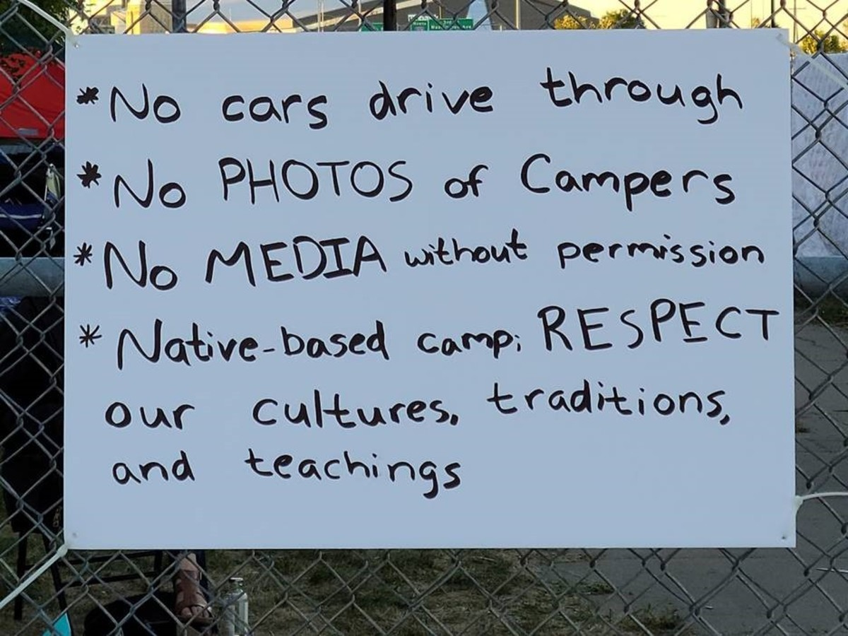 Sign at the Wall of Forgotten Natives in September in Minneapolis. (Photo courtesy of the New Wall of Forgotten Natives 2020 Facebook page)