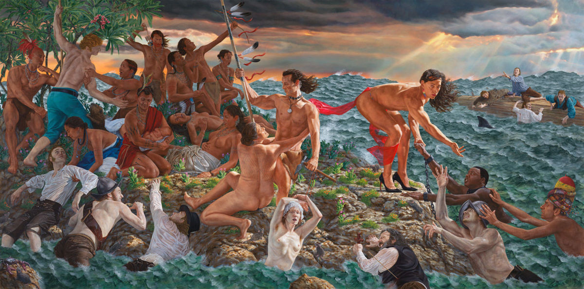 """""""Welcoming the Newcomers,"""" Kent Monkman commission for the Met"""