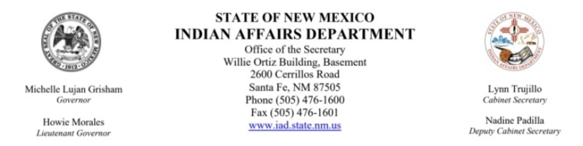 State of New Mexico Indian Affairs Department - banner logo