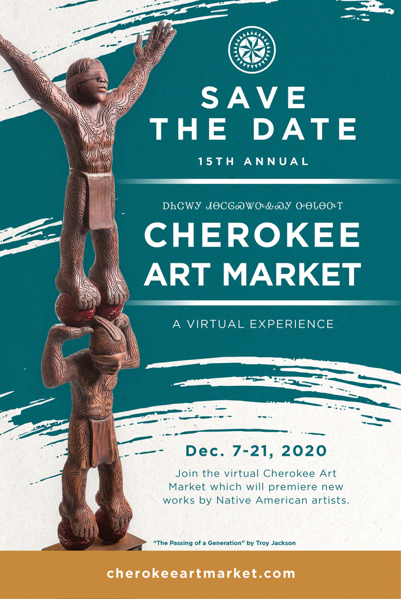 15th Annual Cherokee Art Market 2020 poster.