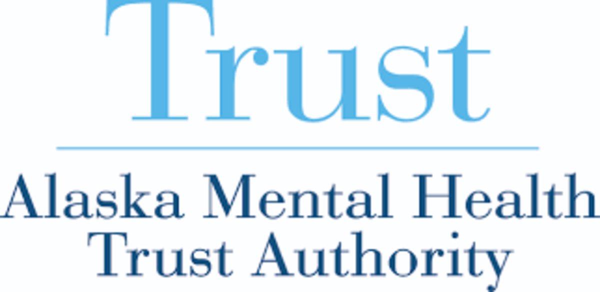 Alaska Mental Health Trust Authority - blue on white logo