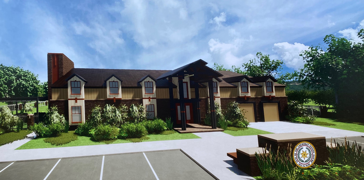 Pictured: Rendering of new One Fire Victim Services transitional housing facility in Stilwell.