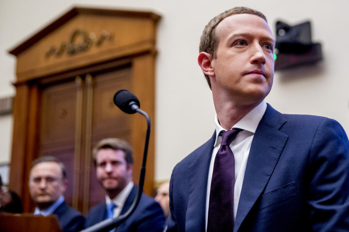 FILE - In this Thursday, Oct. 17, 2019, file photo, Facebook CEO Mark Zuckerberg speaks at Georgetown University, in Washington. Ever since Russian agents and other opportunists abused its platform in an attempt to manipulate the 2016 U.S. presidential election, Facebook has insisted, repeatedly, that it's learned its lesson and is no longer a conduit for misinformation, voter suppression and election disruption. (AP Photo/Nick Wass, File)
