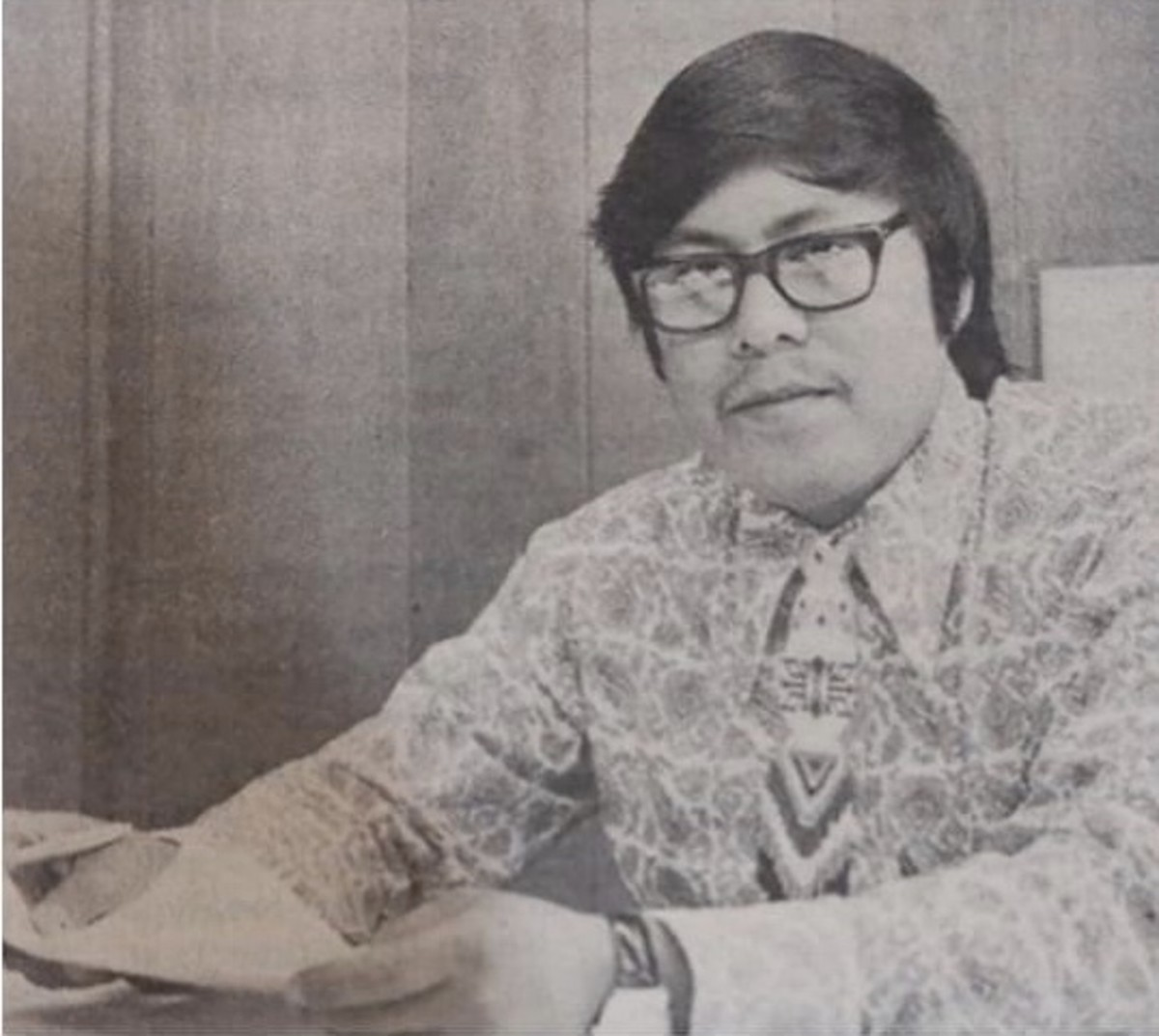 Reuben Teesatuskie was editor of the Cherokee One Feather from 1974 - 1977. (Photo Courtesy of The Cherokee One Feather)