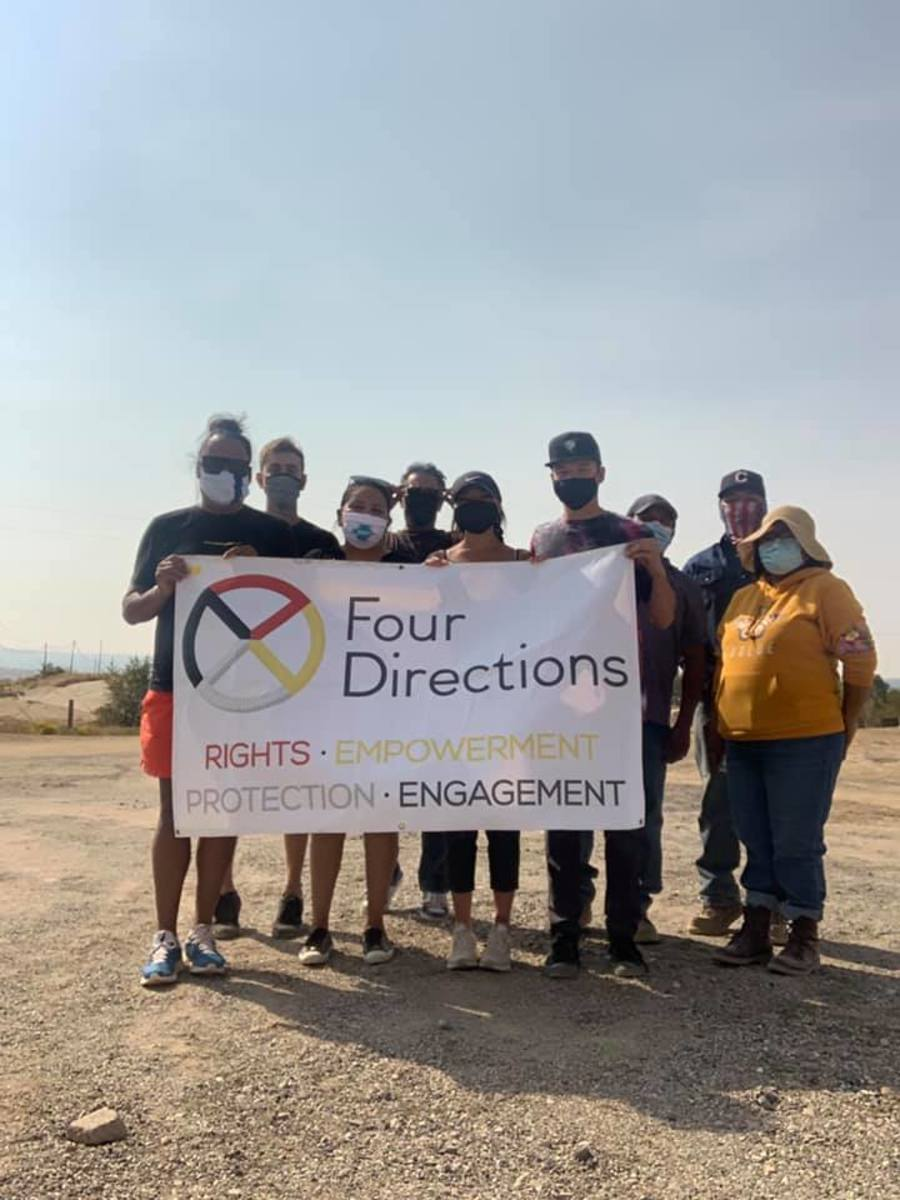The Four Directions Inc crew on the Navajo Nation offered rides to the polls. (Photo courtesy Four Directions, Inc)