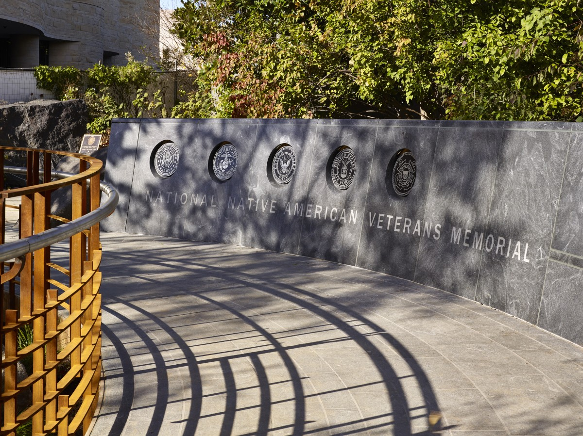 Branches of the U.S. Military were incorporated into the memorial's design (Photo by Alan Karchmer for NMAI)