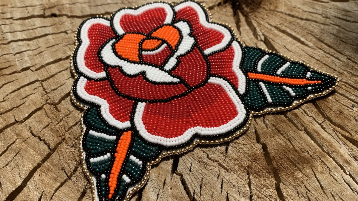 Sophie Hill, Anishinaabe, sells beadwork like this on From The People, an Indigenous-led online marketplace. (Photo courtesy of Sophie Hill)