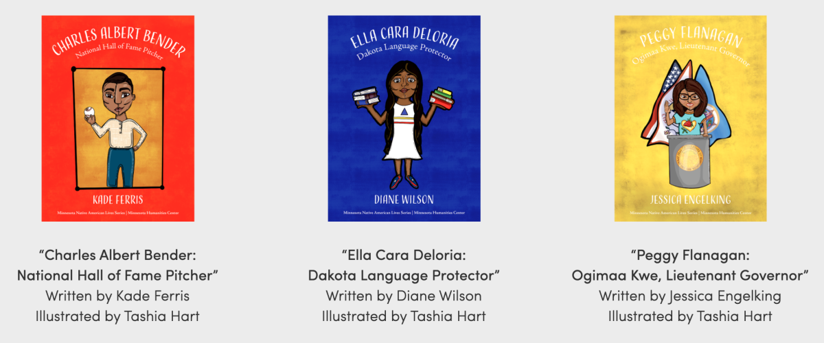 """The Minnesota Native American Lives Series is a series of books for elementary students """"by, for, and about Dakota and Ojibwe people that portray histories, knowledge-ways, culture-keepers and beloved figures."""
