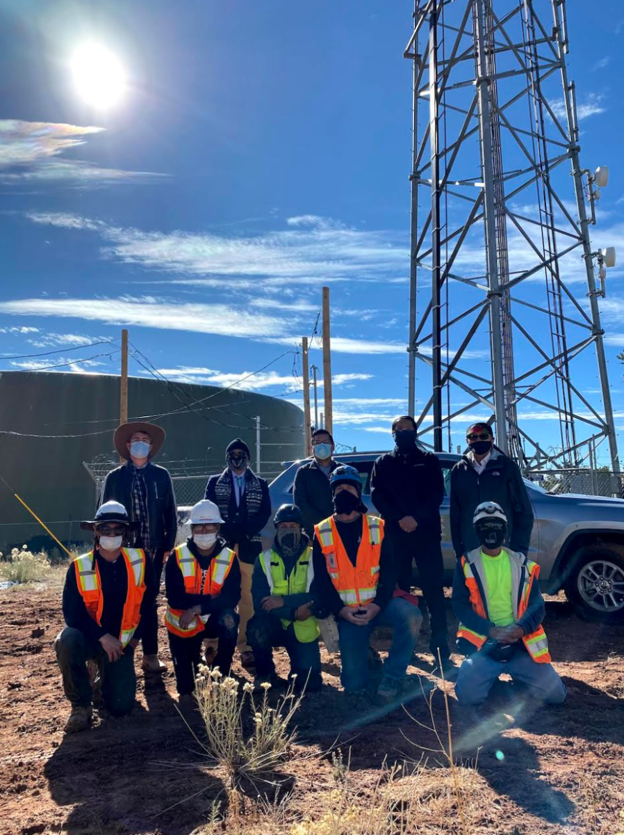 At the site of the new project that expands internet access to the Navajo Nation.