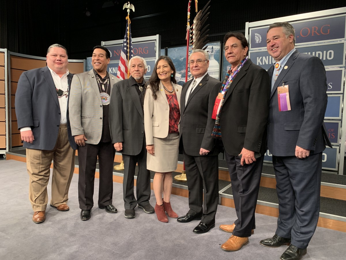 New Mexico Rep. Deb Haaland, Pueblos of Laguna and Jemez, poses for a photo at the State of Indian Nations in Washington, D.C., in February 2019. (Photo by Jourdan Bennett-Begaye, Indian Country Today, File)