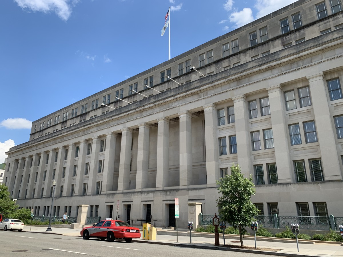 U.S. Department of Interior in Washington, D.C. (Photo by Jourdan Bennett-Begaye, Indian Country Today, File)