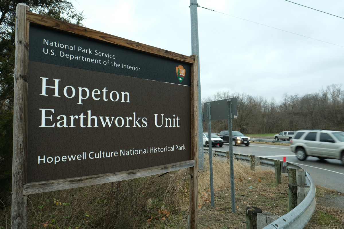 The Hopeton Earthworks is located in Chillicothe, Ohio. (Photo by Mary Annette Pember)