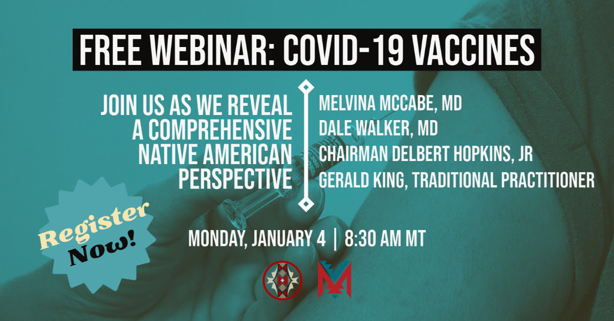 McCabe Consulting Group COVID-19 vaccines January 4, 2021 webinar flyer.
