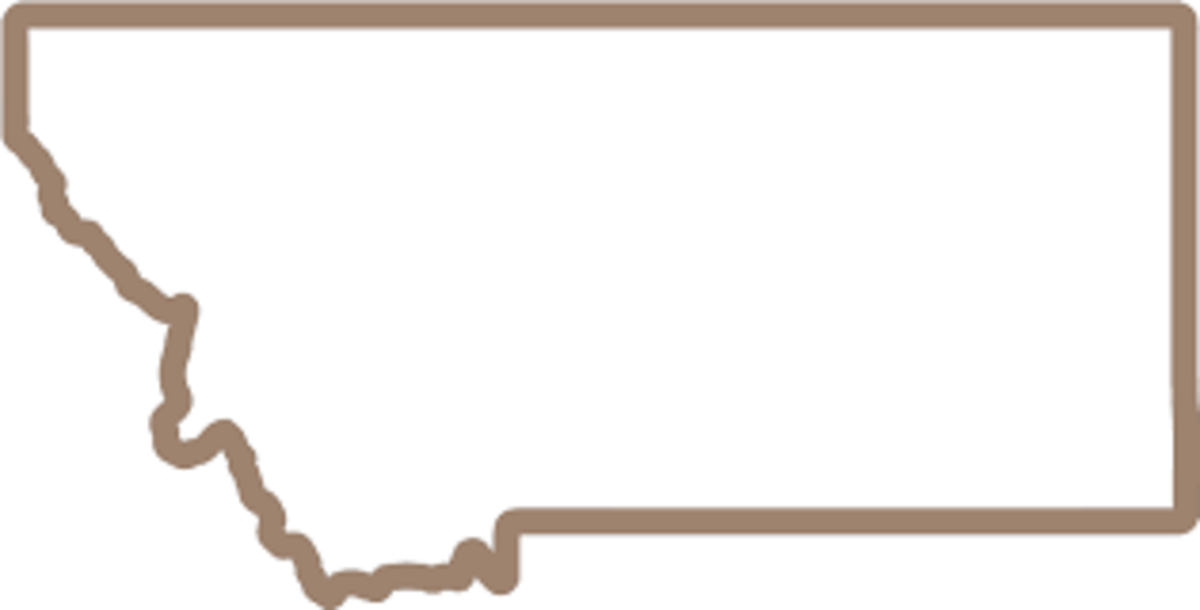 We Are Montana - state outline logo