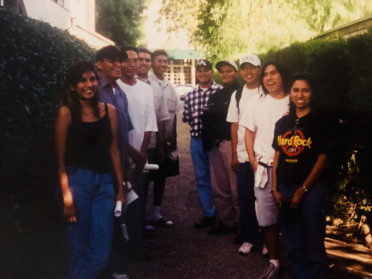 Shon Quannie and students on a trip to Los Angeles, California. (Photo courtesy of Kim Kanuho)