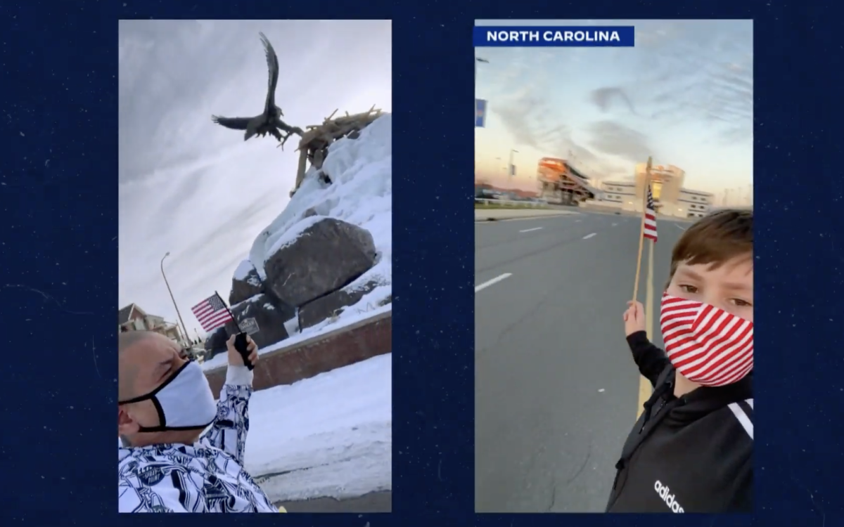 "TikTok star Nathan ""DoggFace"" Apodaca, Northern Arapaho, made an appearance in President Joe Biden's virtual ""Parade Across America"" on Jan. 20. (Screenshot)"