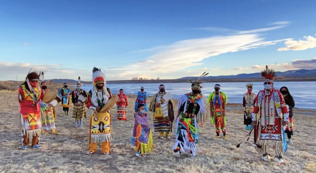 "The Wind River Dancers participate in President Joe Biden's virtual ""Parade Across America"" on Jan. 20. (Screenshot)"