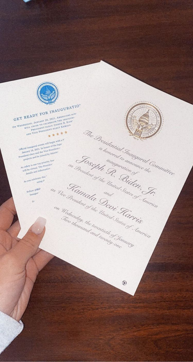 Biden Inauguration announcements (Photo courtesy of Katie Fire Thunder)