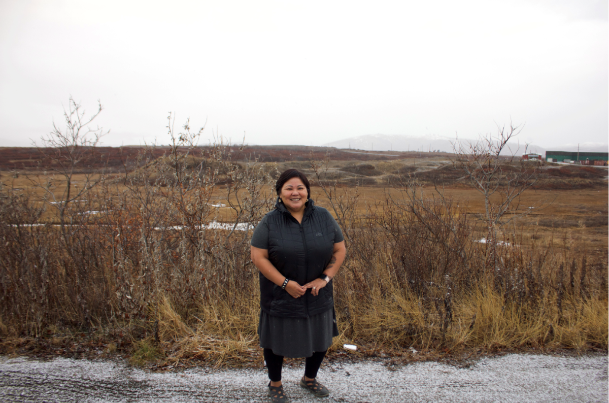 """From story 1 of Nome Sexual Assault 5-part series that ran weekly on Saturdays starting on Jan. 30, 2021. HED: """"Seeking protection, justice: sexual assault in Northwest Alaska, Part 1 of 5, DEK: 'We need to fix our humanity.' Shown here: Bertha Koweluk, Inupiaq, leader of Bering Sea Women's group, in Nome during late fall of 2020. (Photo from KNOM)"""