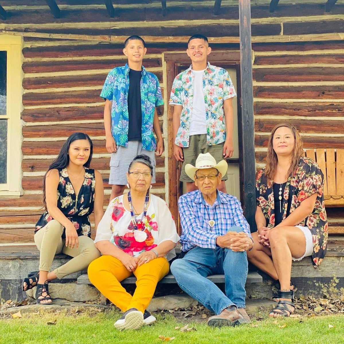 Grant Bulltail with his family. (Photo courtesy of Tai Bulltail)