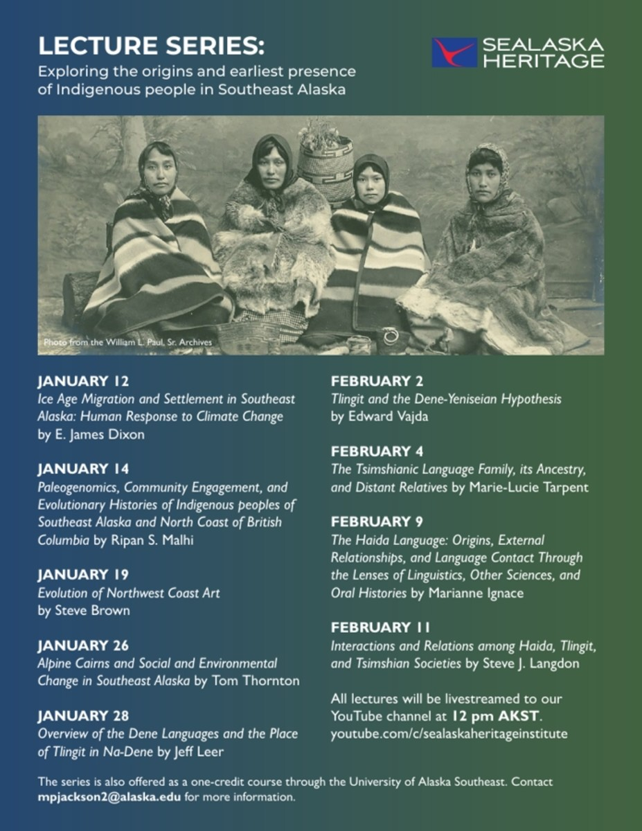 Sealaska Heritage Institute Lecture Series flyer.