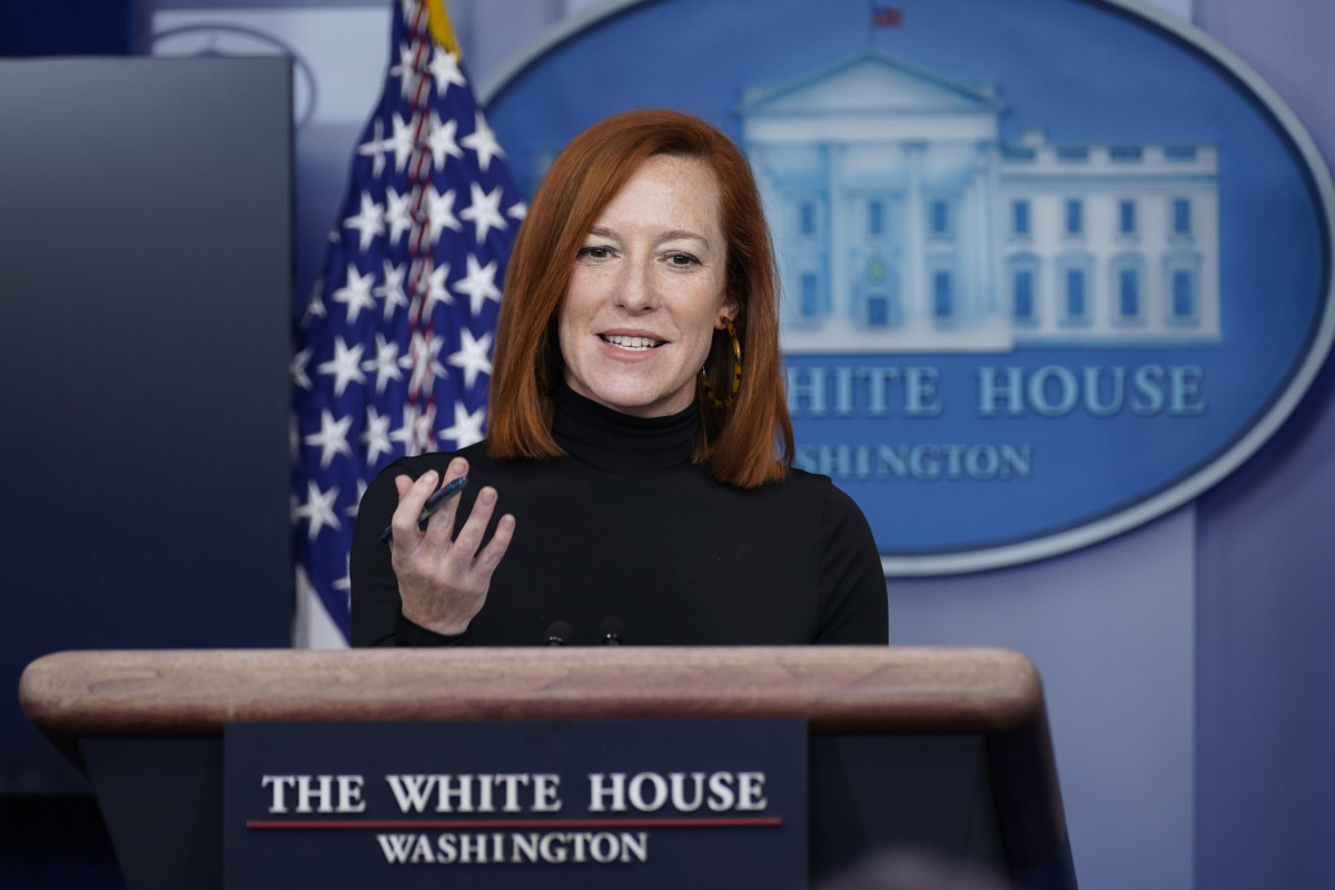 White House press secretary Jen Psaki speaks during a press briefing at the White House, Wednesday, Feb. 3, 2021, in Washington. Even as President Joe Biden gathers with senators and works the phones to push for a giant COVID relief package, his team is increasingly focused on selling the plan directly to voters. (AP Photo/Evan Vucci)