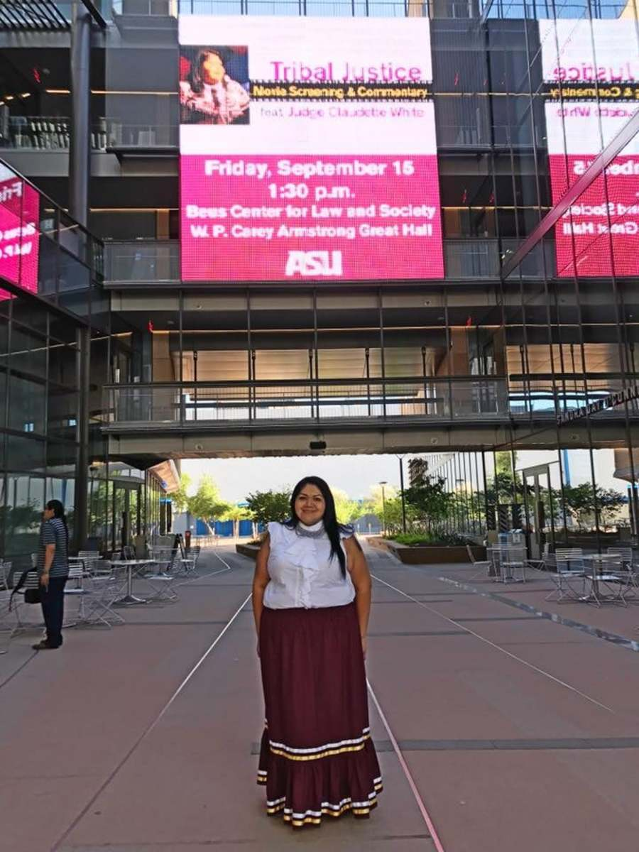 Claudette White at the Sandra Day O'Connor School of Law at Arizona State University (photo courtesy of the White family).